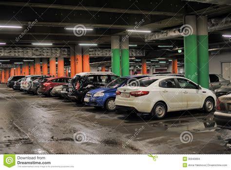 Underground Garage Russia by Underground Parking In The Shopping Center Editorial Image