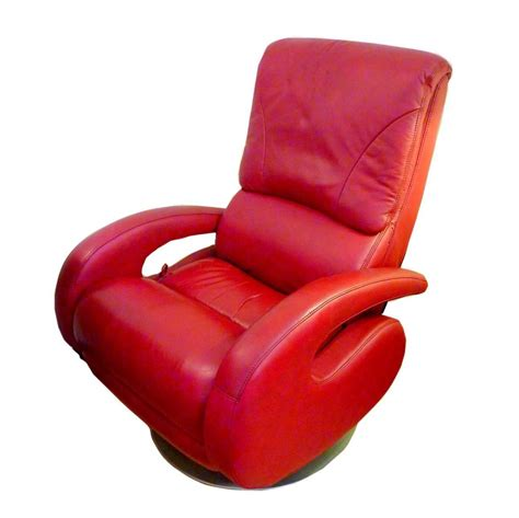 red recliners red leather recliner by lane for sale at 1stdibs
