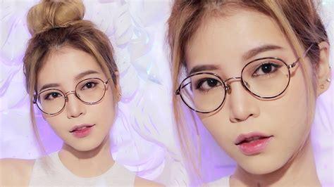natural makeup tutorial for glasses easy makeup for glasses wearer youtube