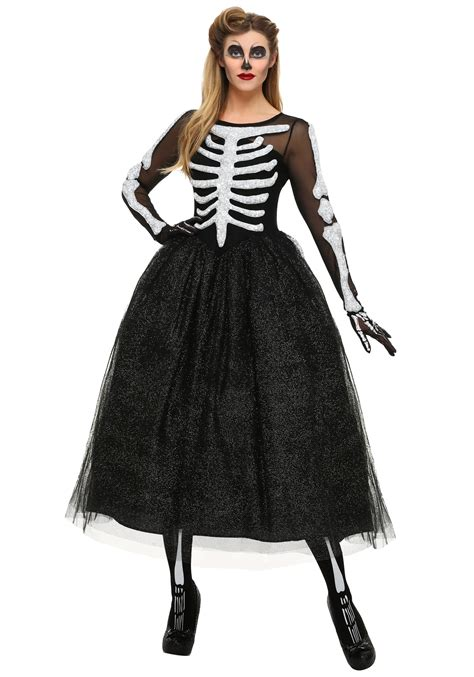 halloween costumes women s skeleton beauty plus size costume
