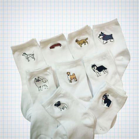 Embroidery Socks embroidery ankle socks 183 cake 183