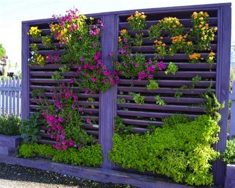 Cheap Vertical Garden Fence Mounted Pots Diy Vertical Garden 10 Ways To