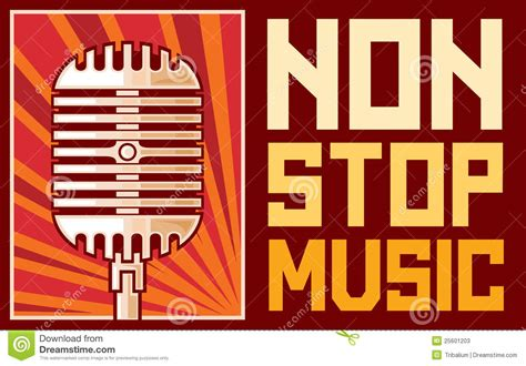 song nonstop non stop stock vector image of musical record