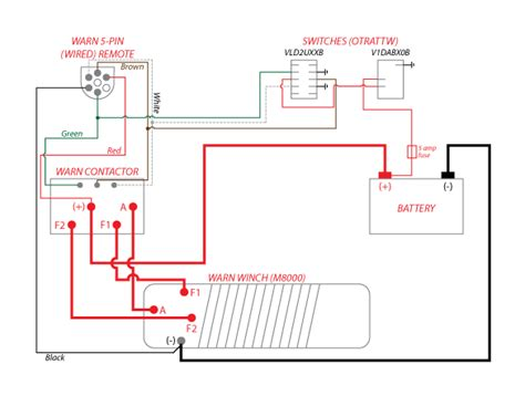 winch rocker switch wiring diagram winch motor wiring