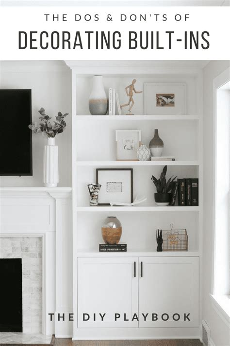 how to decorate bookcases built ins the dos and don ts of decorating built in shelves the