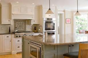 Contemporary l shaped kitchen with high end appliances and a cream