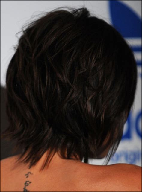 victoria beckham short hairstyles back and front victoria beckham s messy short hairstyle