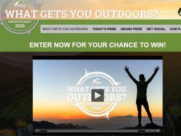 Outdoor Channel Sweepstakes - outdoor channel s quot what gets you outdoors quot sweepstakes