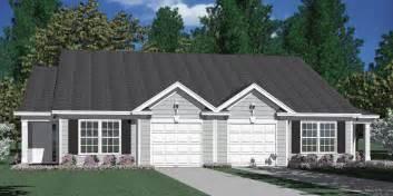 Duplex House Plans With Garage by Houseplans Biz House Plan D1196 B Duplex 1196 B