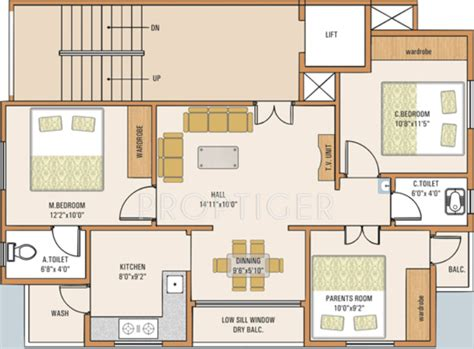 2 bhk plan in 1000 sq ft 1000 sq ft 3 bhk floor plan image samruddhi habitats