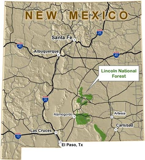 lincoln new mexico map lincoln national forest