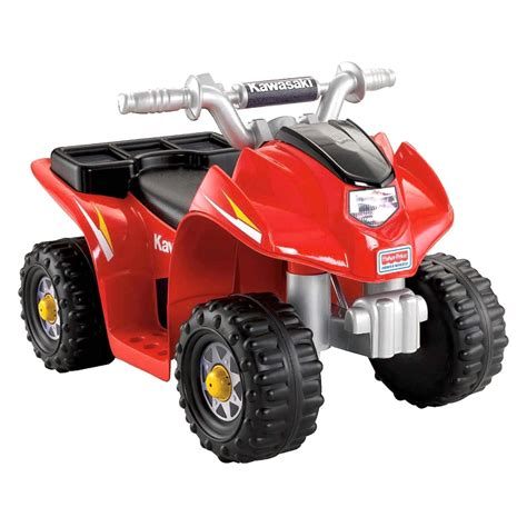 power wheels power wheels 174 w6214 kawasaki red lil quad