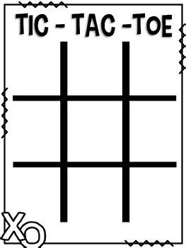 tic tac toe template powerpoint editable sight word tic tac toe by designs tpt
