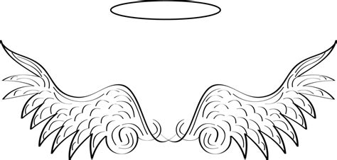angel wings and halo vector by truthjc on deviantart