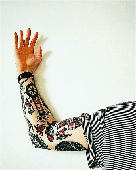 traditional tattoo sleeves traditional sleeve sleevetattoo