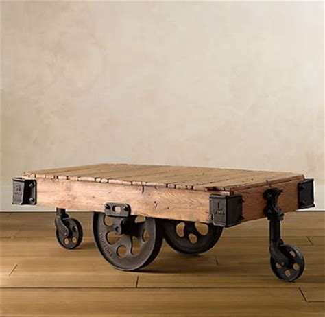 Restoration Hardware Cart Coffee Table Copy Cat Chic Restoration Hardware Furniture Factory Cart