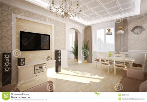 classical living room interior in classic style stock photo image of arts 35213478