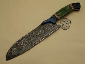 made kitchen knives damascus kitchen knife custom handmade damascus steel kitchen