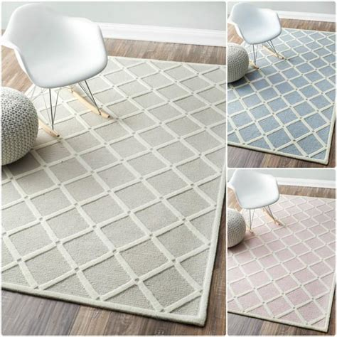 nuloom handmade abstract fancy trellis wool rug