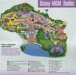 disney world florida park map disney mgm studios florida theme parks