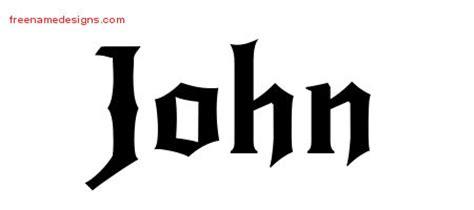 tattoo lettering john gothic name tattoo designs john download free free name