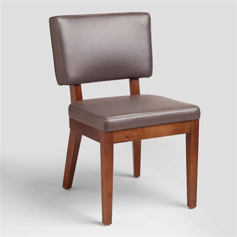 gray bonded leather chairs set of 2 world market
