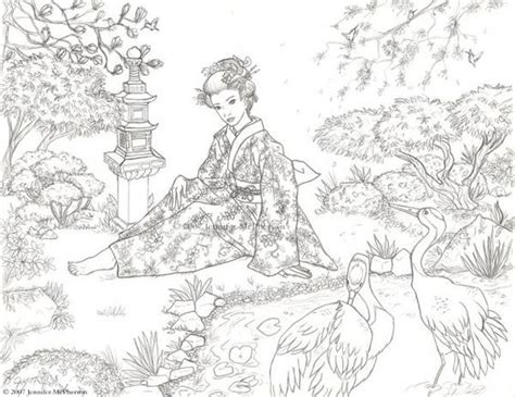 anti stress coloring book japan coloriage japon coloriage jardins