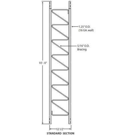 rohn 25g tower sections rohn 25g standard 10 ft tower section for model 25g tower