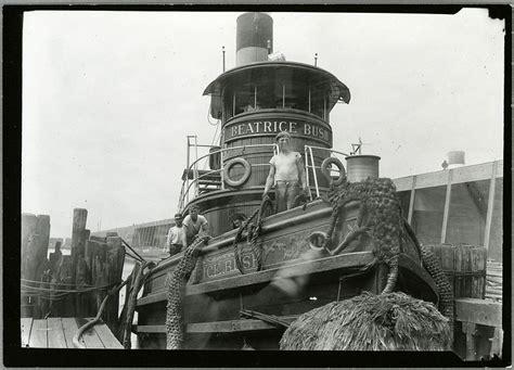tugboat brooklyn tugboat on east river at bush terminal brooklyn 1900