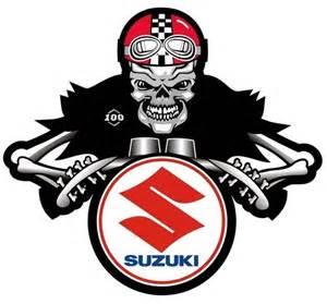 Suzuki Motorcycle Graphics Suzuki Dem Bones Cafe Racer Motorcycle Sticker