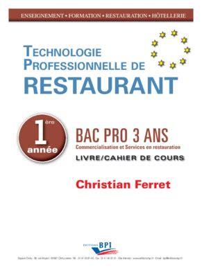 technologie cuisine bac pro technologie culinaire cours et exercices pdf notice