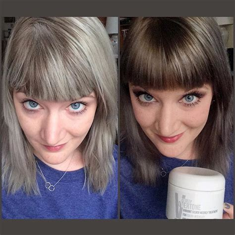 grey hair pics before and after fantastic before and after using overtone to re gray