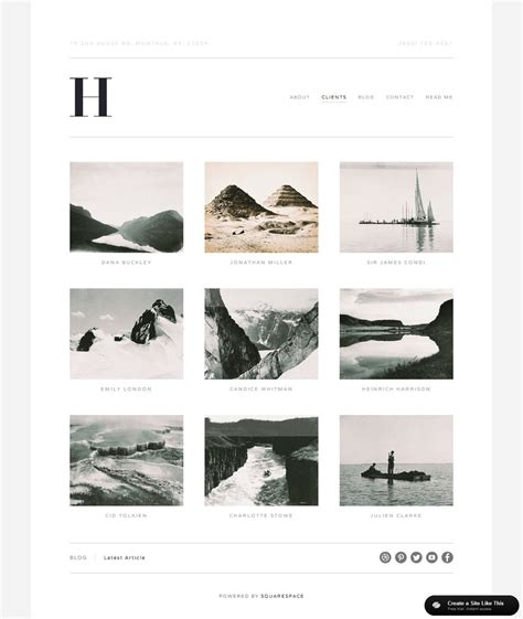 squarespace five template hudson galleries jpg