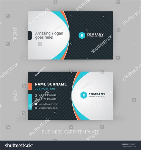 business card stock template creative clean vector business card template stock vector