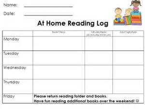 5th grade monthly reading log 5th grade reading log