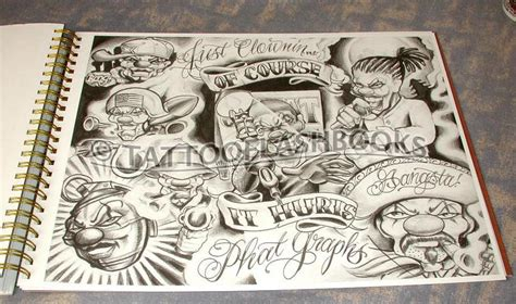 gangster tattoos gangster flash sheet page 3 1 tattooflashbooks miki vialetto boog from the