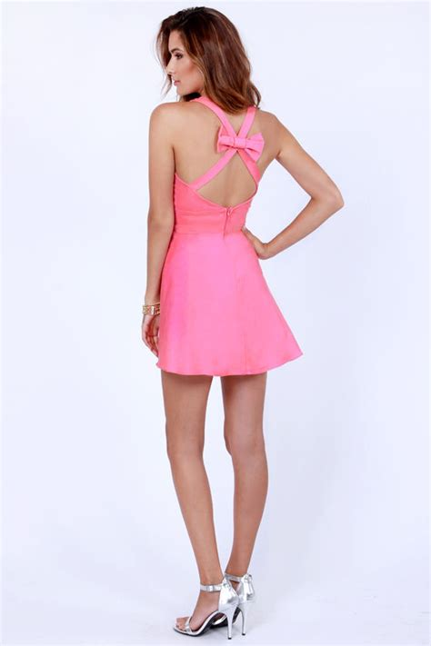 Who Wore It Better Godfrey Fuchsia Bow Dress by Pink Dress Bow Dress Backless Dress 41 00