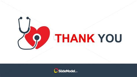 Human Heart With Stethoscope Powerpoint Vector Slidemodel Thank You Clipart For Powerpoint