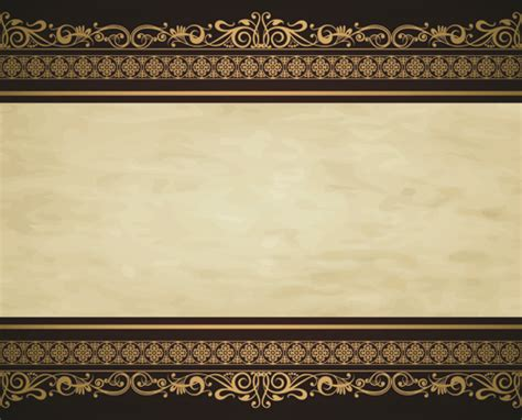 Modern Country Fashion by Vintage Gold Border Background Vector 02 Vector