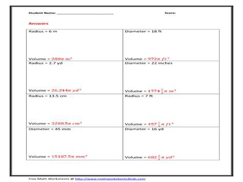 printable math worksheets volume sphere and hemisphere worksheet volume of pyramid worksheet grass fedjp