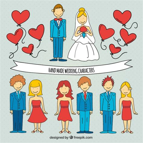 wedding characters made wedding characters vector free