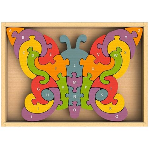 Puzzle Alphabet Butterfly butterfly alphabet puzzle a mighty