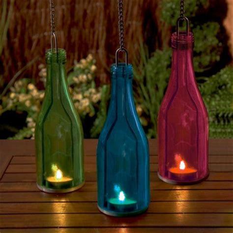glass tea light lanterns glass bottle tea light holder