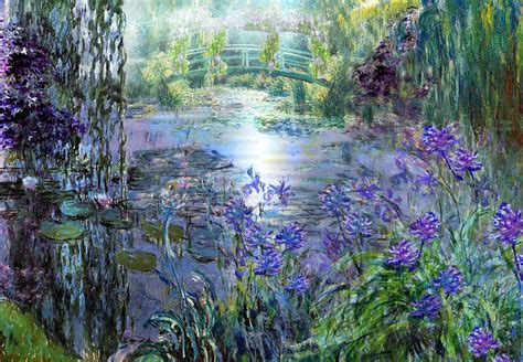 Monet Flower Garden Monet Flower Garden Paintings Www Pixshark Images Galleries With A Bite