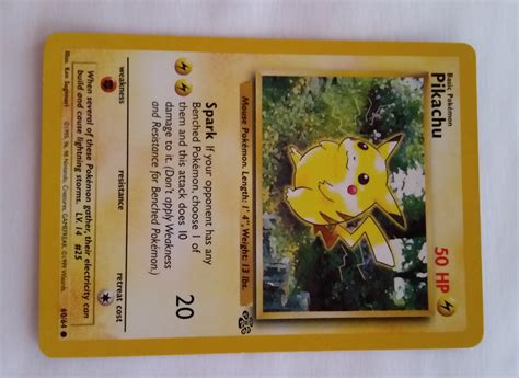Or Card Original Jungle Pikachu Card For Crafting Or Display