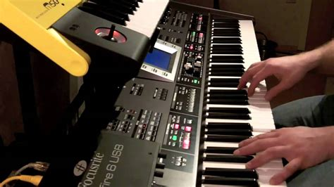 Keyboard Roland G70 6 rock piano intros in 4 30 minutes on roland g70
