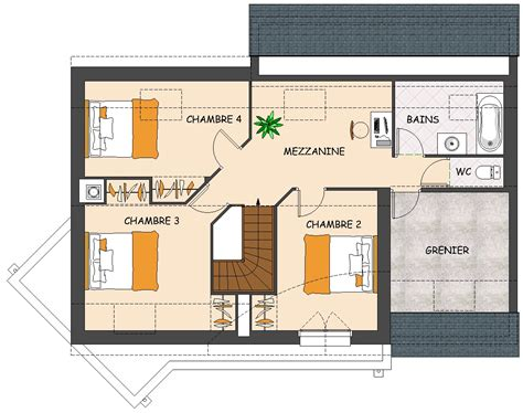 plan de maison 4 chambres avec 騁age construction maison neuve palmyre lamotte maisons