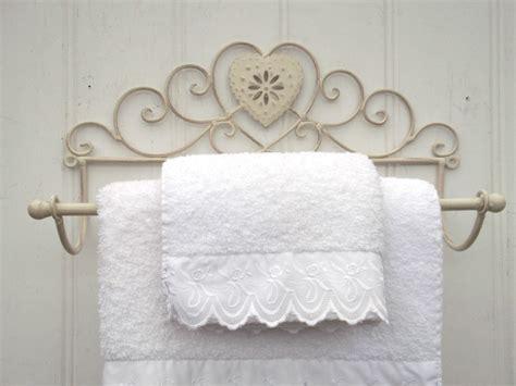 shabby chic towel rail 28 images shabby chic metal wall shelf towel rail rack storage