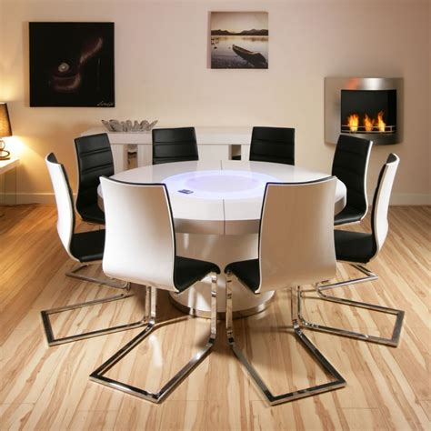 large dining table for 8 large white gloss dining table 8 white black