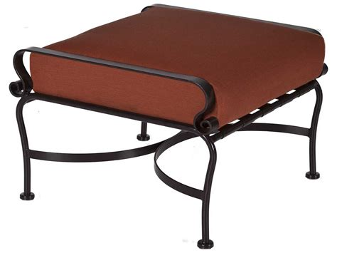 wrought iron patio ottoman ow marquette wrought iron ottoman 2050 o